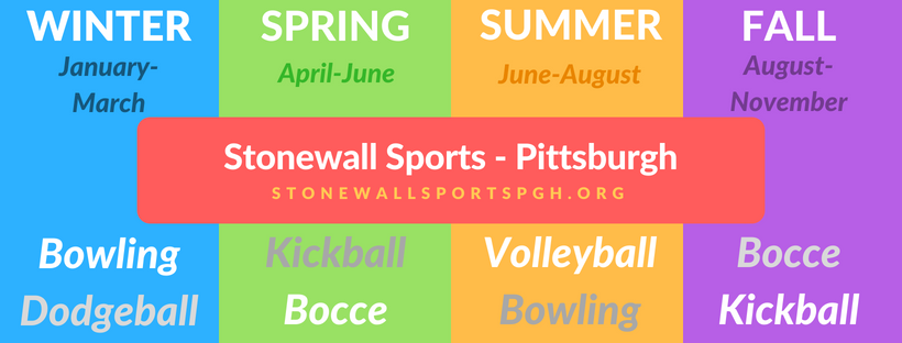 Stonewall Sports Pittsburgh by Season